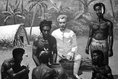 Миклухо-Маклай среди папуасов