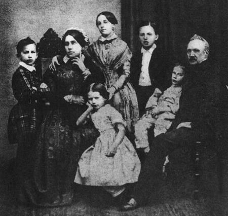 Семья Чайковских в 1848 году (крайний слева - Петр)