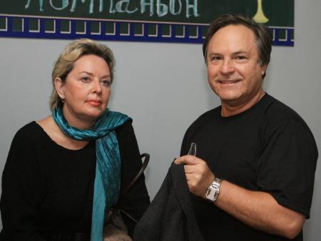 Родион Нахапетов с женой Натальей