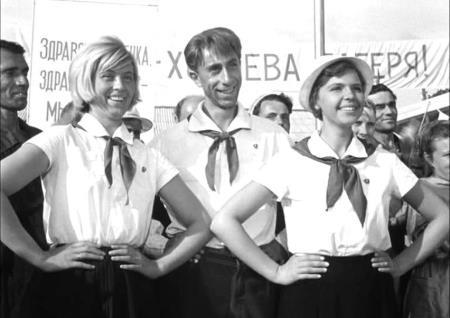 Нина Шацкая в роли пионервожатой