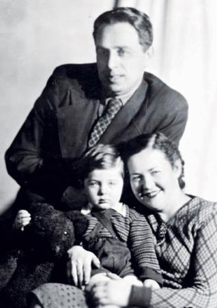 В детстве с мамой и папой