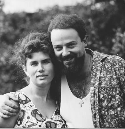 Александр Мень с женой Натальей