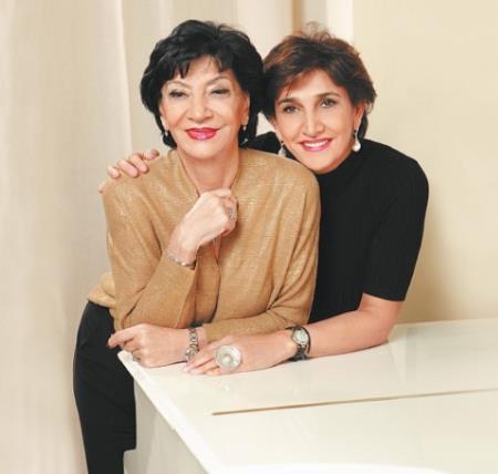 Нани Брегвадзе с дочерью Экой