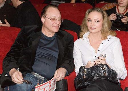 Максим Дунаевский с женой Мариной Рождественской