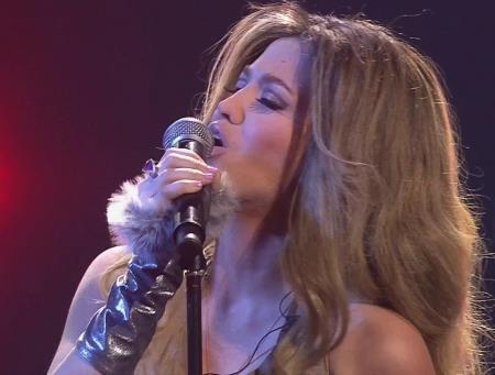 Аглая Шиловская в образе колумбийской певицы Шакиры