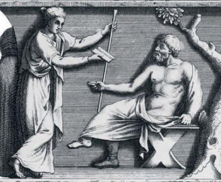 Сократ и супруга Ксантиппа