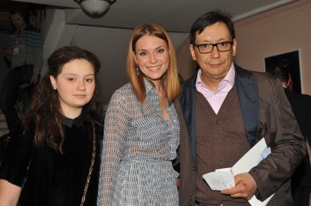 Егор Кончаловский с бывшей женой Любовью Толкалиной и дочерью Машей