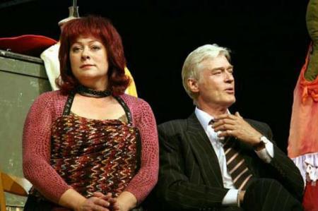 Борис Щербаков на сцене театра с Марией Ароновой