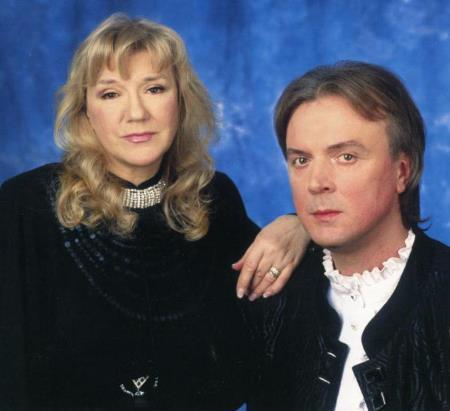 Жанна Бичевская с супругом Геннадием Пономаревым