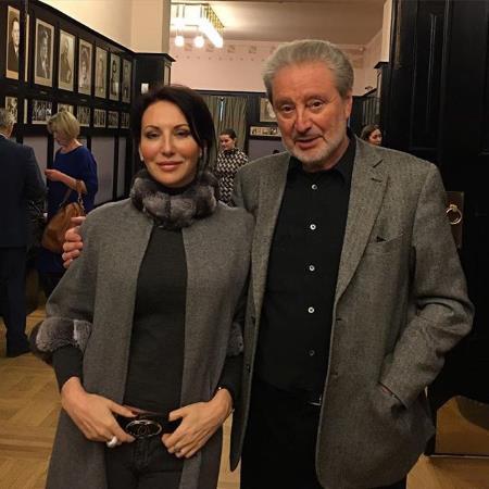 Алика Смехова с отцом Вениамином Борисовичем