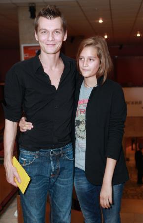 Филипп Янковский с дочерью Лизой