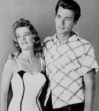Клинт Иствуд в молодости с Мэгги Джонсон