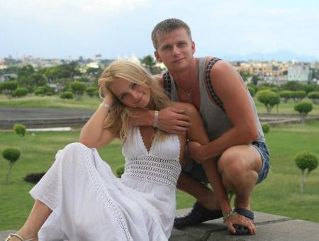 Роман Курцын с супругой Анной Назаровой