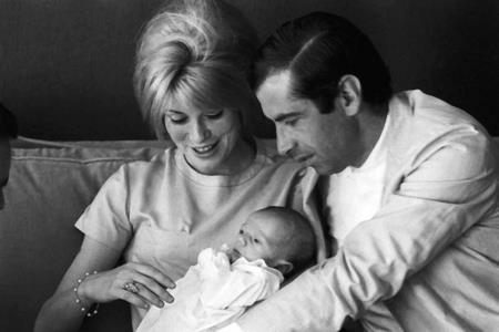 Катрин Денев и Роже Вадим с сыном Кристианом