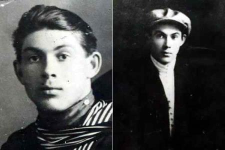 Николай Гастелло в молодости