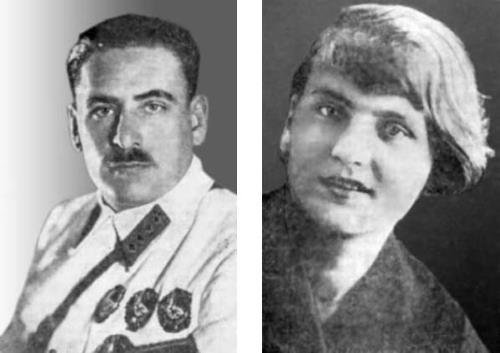 Василий Блюхер с женой Глафирой