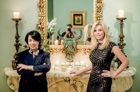 Марина Юдашкина с мужем в доме моды