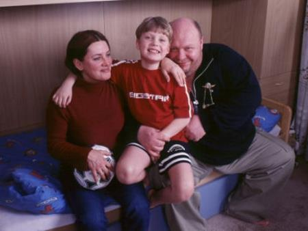 Сергей Крылов с семьей: женой и сыном