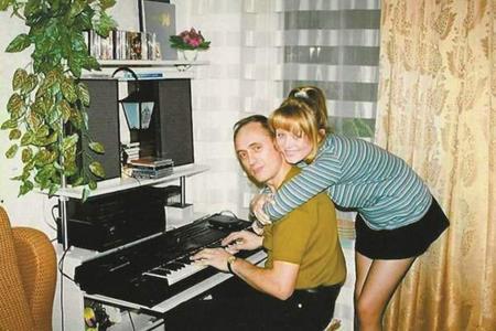 Юля с отцом, композитором