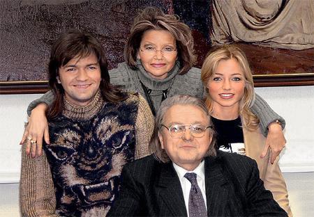 Дмитрий с родителями и сестрой Инной