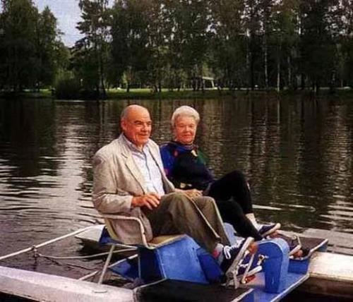 Михаил Глузский с женой Екатериной