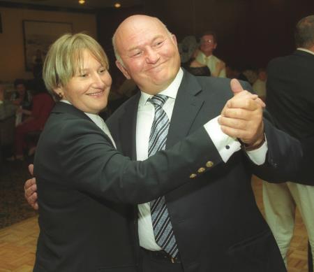 Елена Батурина с мужем