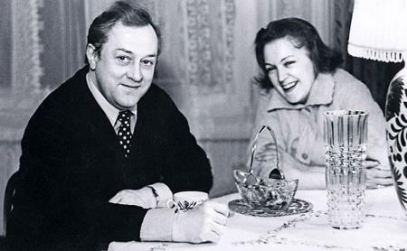 Владислав Стржельчик с женой Людмилой