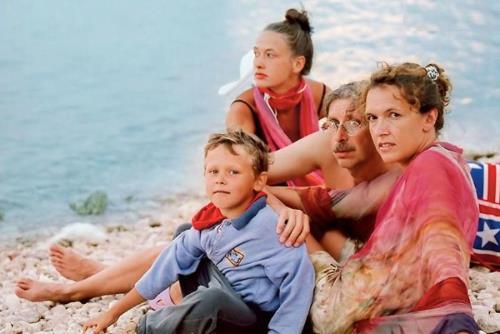 Мария с родителями и младшим братом