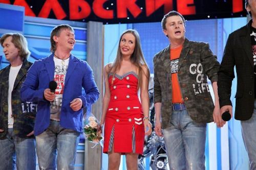"""Юля Михалкова в команде КВН """"Уральские пельмени"""""""