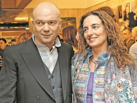 Андрей Смоляков с женой Дарьей Разумихиной