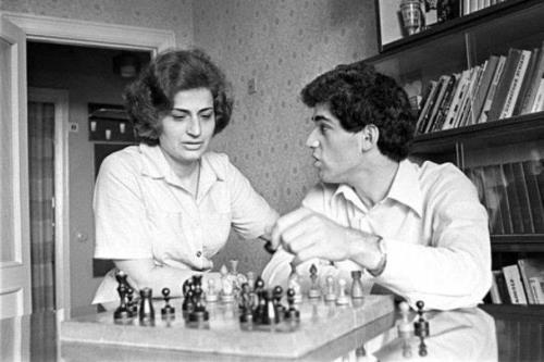 Гарри Каспаров с мамой