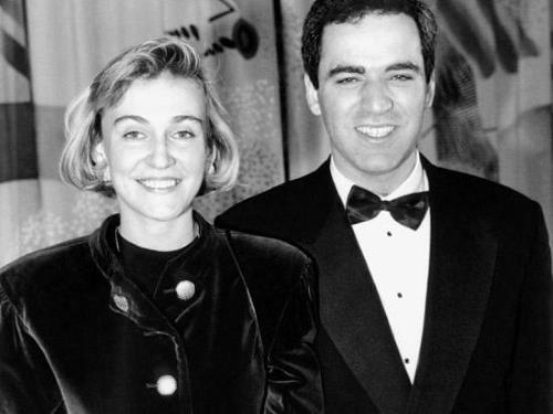 Гарри Каспаров с первой женой Марией Араповой
