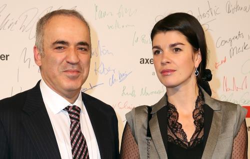 Гарри Каспаров с женой Дарьей Тарасовой