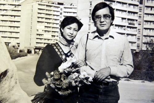 Роза Рымбаева и Таскын Окапов
