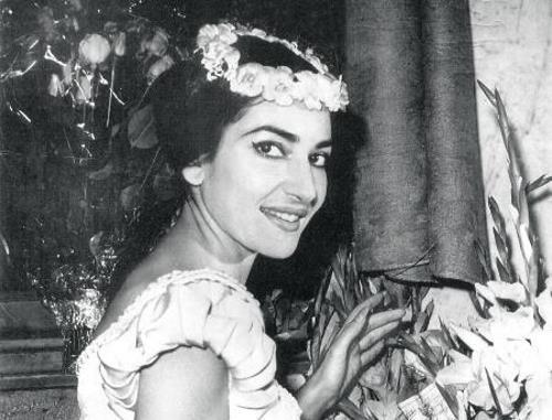 Мария Каллас в молодости
