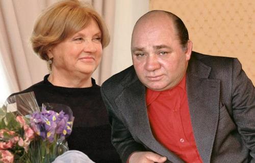 Евгений Леонов с женой Вандой