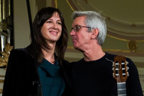 Музыкант с дочерью Юлией