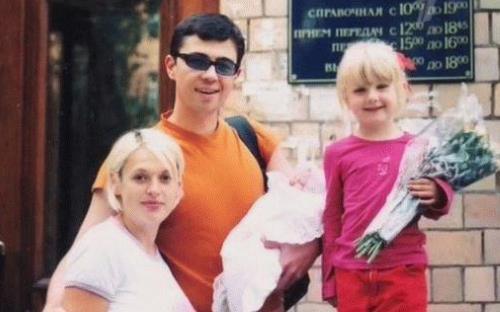 Сергей Бодров  младший с женой Светланой и детьми