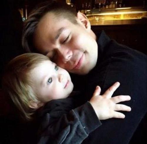 Стас с любимым сыном Петром